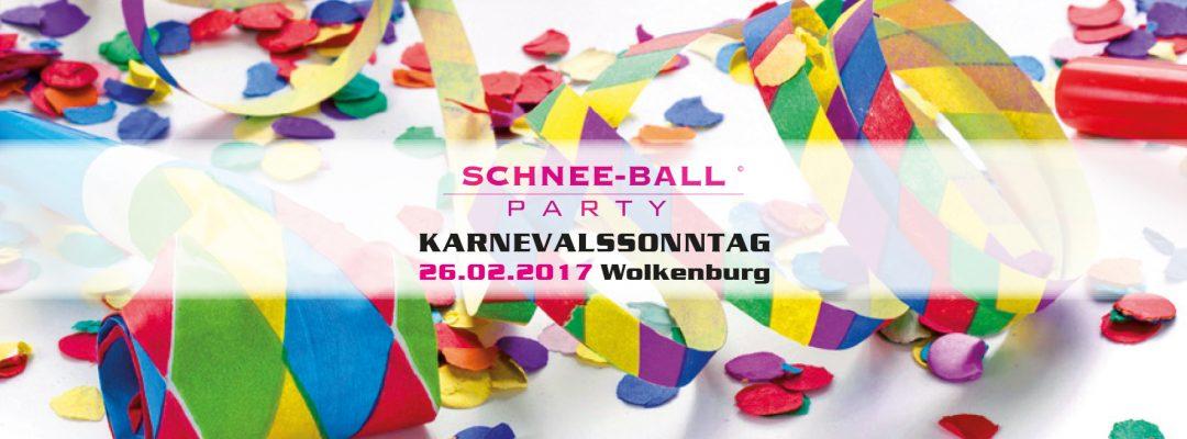 Schnee-Ball – die Karnevalsparty in der Wolkenburg am Sonntag, 26. Februar. Präsentiert von Radio Köln