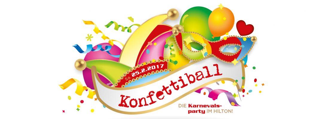 Konfetti-Ball – die Karnevalsparty im Hilton Cologne am Samstag, 25. Februar. Präsentiert von Radio Köln.