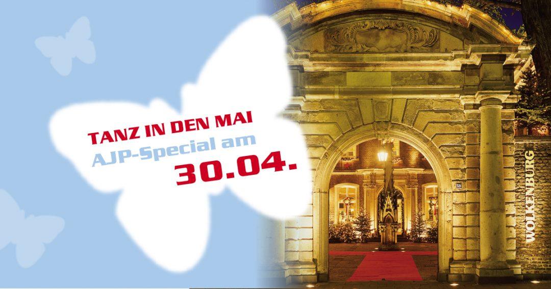 Tanz in den Mai! In der Wolkenburg am Montag, 30. April. Präsentiert von Radio Köln.