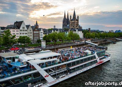 AfterJobParty auf dem Rhein – Saisoneröffnung 09.05.18