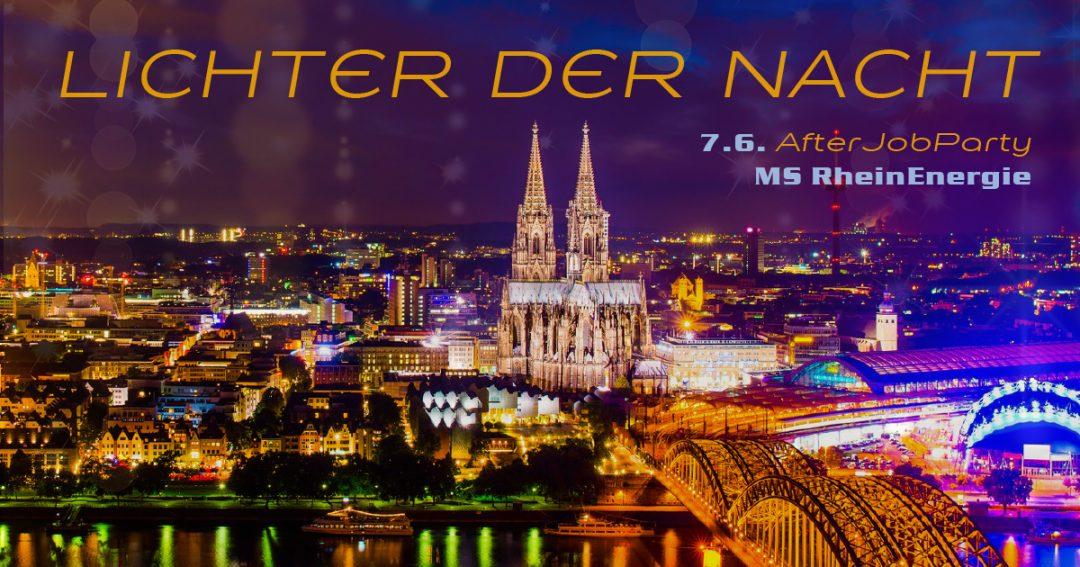 """Die AfterJobParty auf dem Rhein – """"Lichter der Nacht"""""""