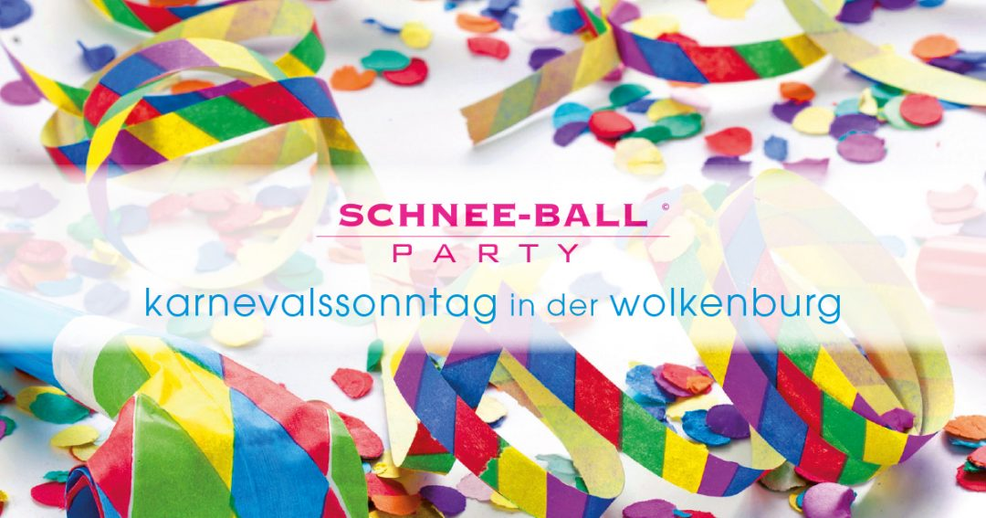 Schnee-Ball – die Party am Karnevalssonntag in der Wolkenburg