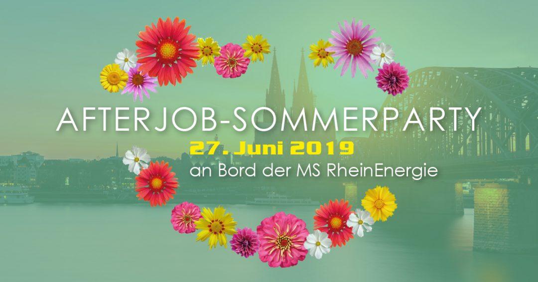 """AfterJob Sommerparty """"Ibiza"""" auf dem Rhein"""