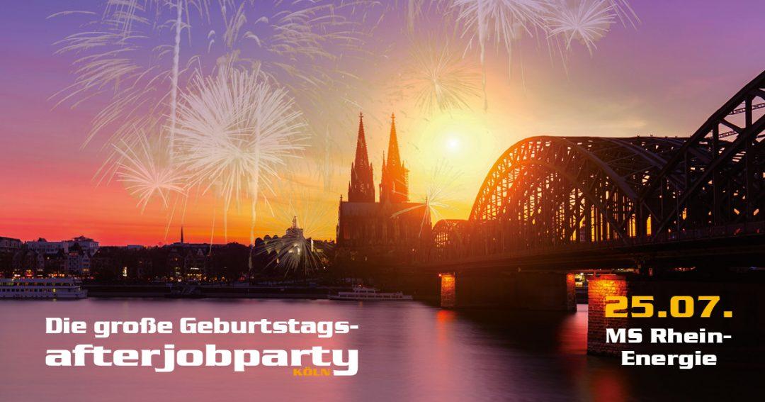 Die AfterJob Geburtstagsparty auf dem Rhein