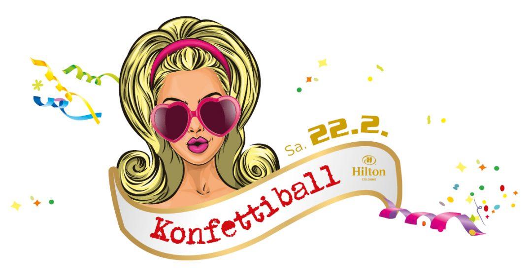 Konfetti-Ball im Hilton am Karnevalssamstag