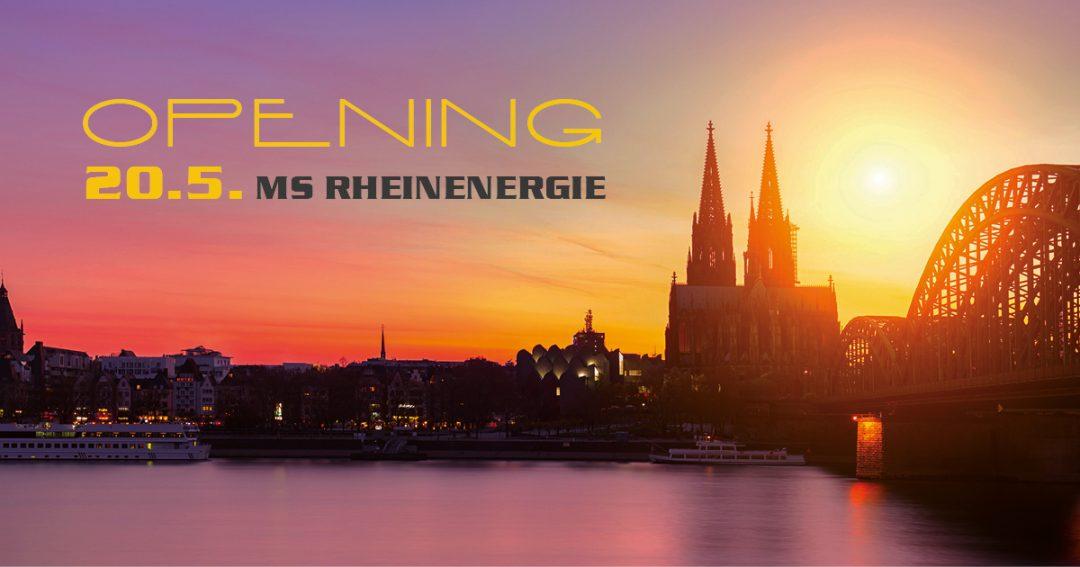 Saisoneröffnungsparty auf dem Rhein am 20. Mai